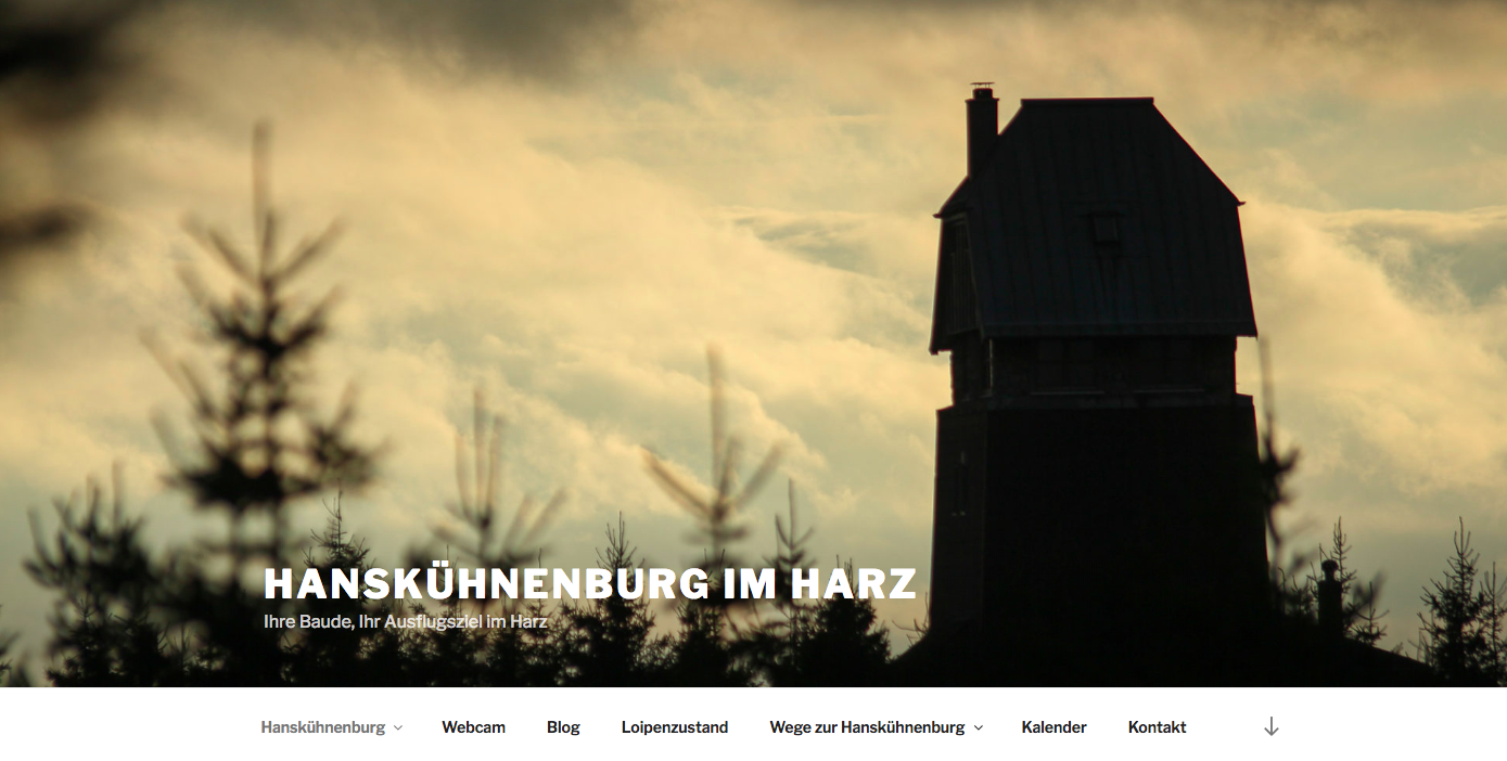 Screenshot Hanskühnenburg Website